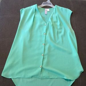 Turquoise Blouse Tank
